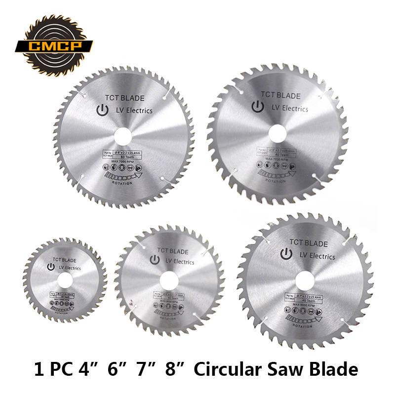 """1pc 4""""6""""7""""8"""" Inch Circular Saw Blade Tungsten Carbide Saw Blade For Wood TCT Woodworking Cutting Disc"""