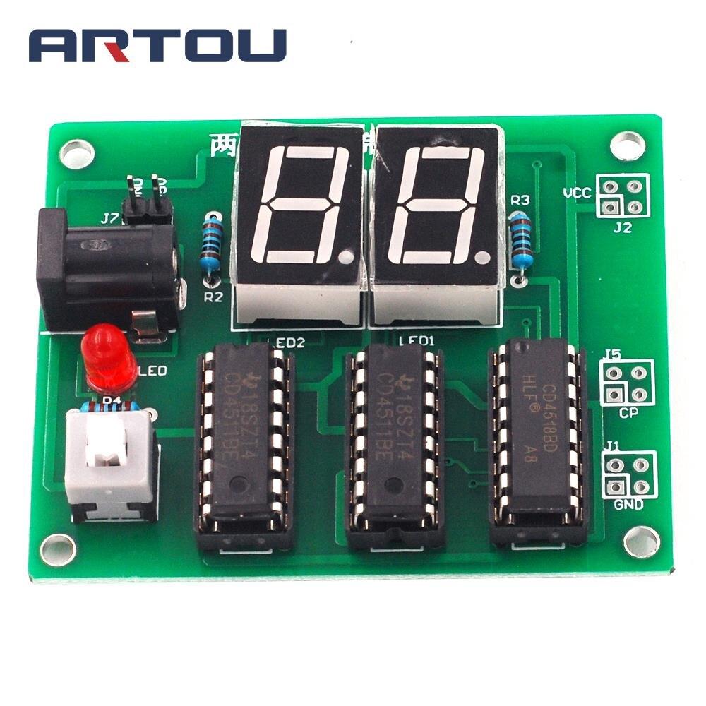 DIY Kits dos bits decimales contador de 2 bits contador piezas DIY Kit electrónico Cerradura electrónica Puerta de captura 12V 0.4A montaje de liberación solenoide Control de acceso