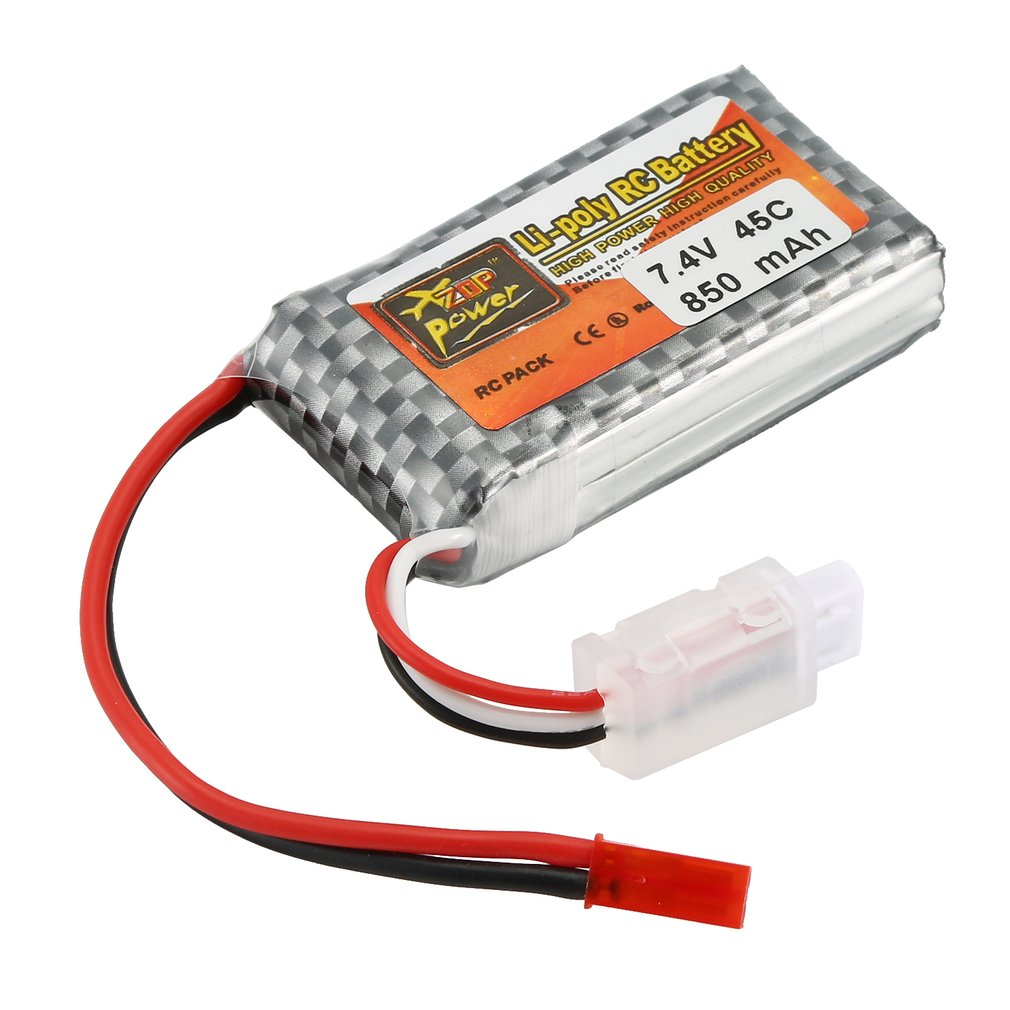 ZOP Power <font><b>850mAh</b></font> 7.4V 45C <font><b>2S</b></font> JST Plug Lipo Battery Rechargeable Battery for RC Racing Drone Aircraft Helicopter Car Boat image