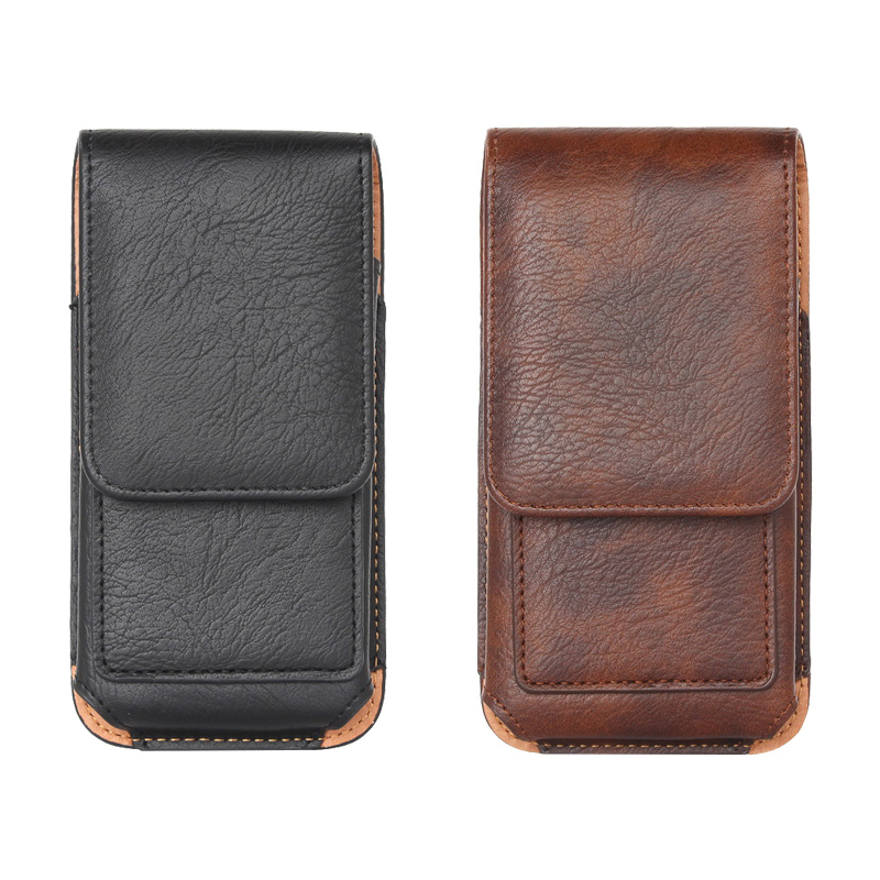Belt Cover For iPhone 11 Pro Max case Universal Pouch Mobile Bag Leather Wallet Case 6.1/6.5 inch Bag Holster For Smart Phone