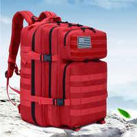 50L Military Molle Backpack Tactical Army Men Travel Rain Cover Waterproof Rucksack Tourist Bagpack Mochila Tatica Camping Canta