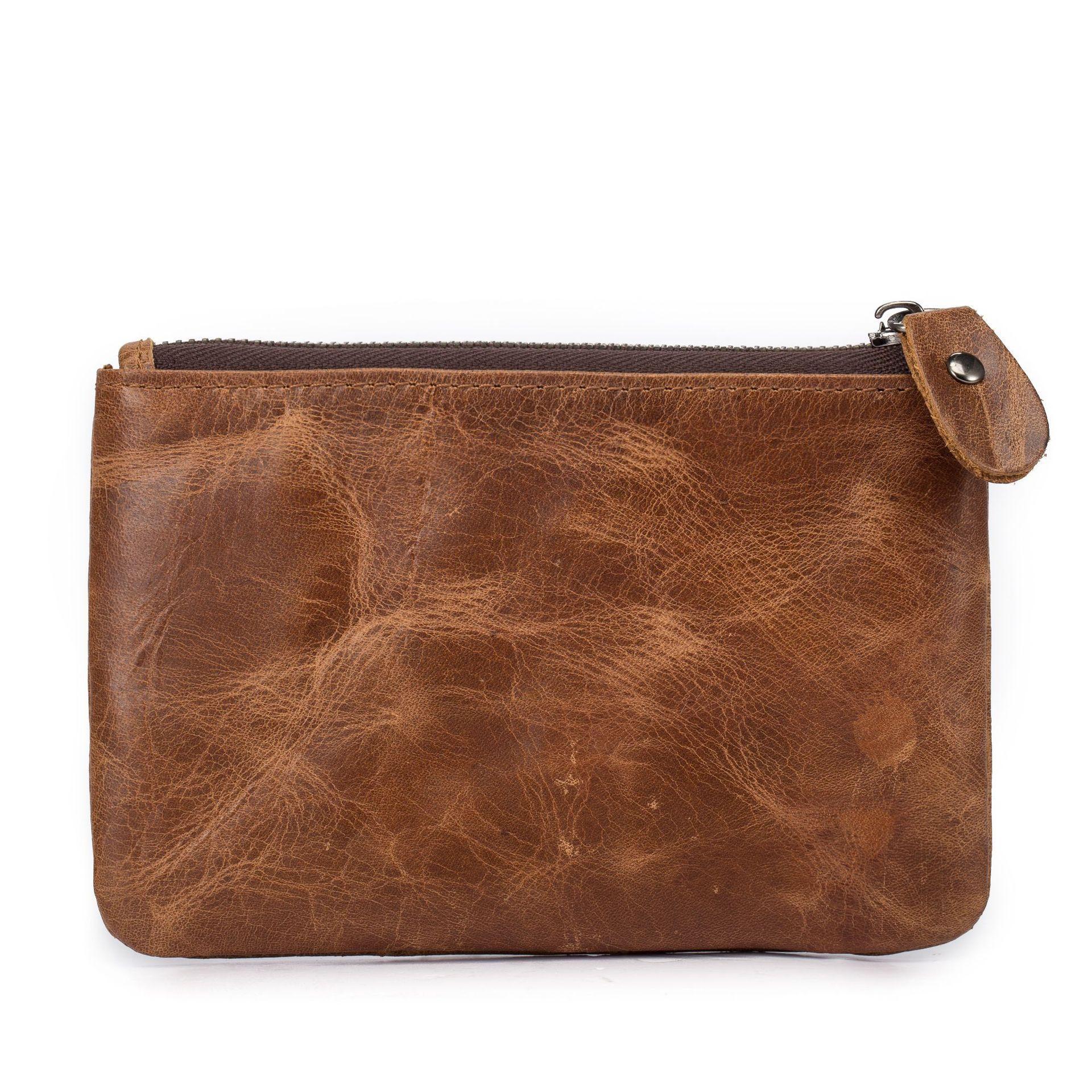 Suntech Mongolian MEN'S Coin Purse Genuine Leather Full-grain Leather Horse Leather Key Coin Bag Wallet Zipper 1015