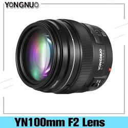 Светодиодная лампа для видеосъемки Yongnuo YN100mm F2 YN-100mm F2/C Средний Телеобъектив Объектив с фиксированным фокусным расстоянием объектив IS USM для ...