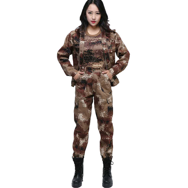 Jungle Camouflage Suit Mens Outdoor Training Uniforms Students Military Training Uniforms Special Mens Wear Labor InsuranceSafety Clothing   -