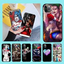 NBDRUICAI Joker and Harley Quinn Bling Cute Phone Case for iPhone 11 pro XS MAX 8 7 6 6S Plus X 5S SE 2020 XR case nbdruicai the shawshank redemption bling cute phone case for iphone 11 pro xs max 8 7 6 6s plus x 5s se xr case