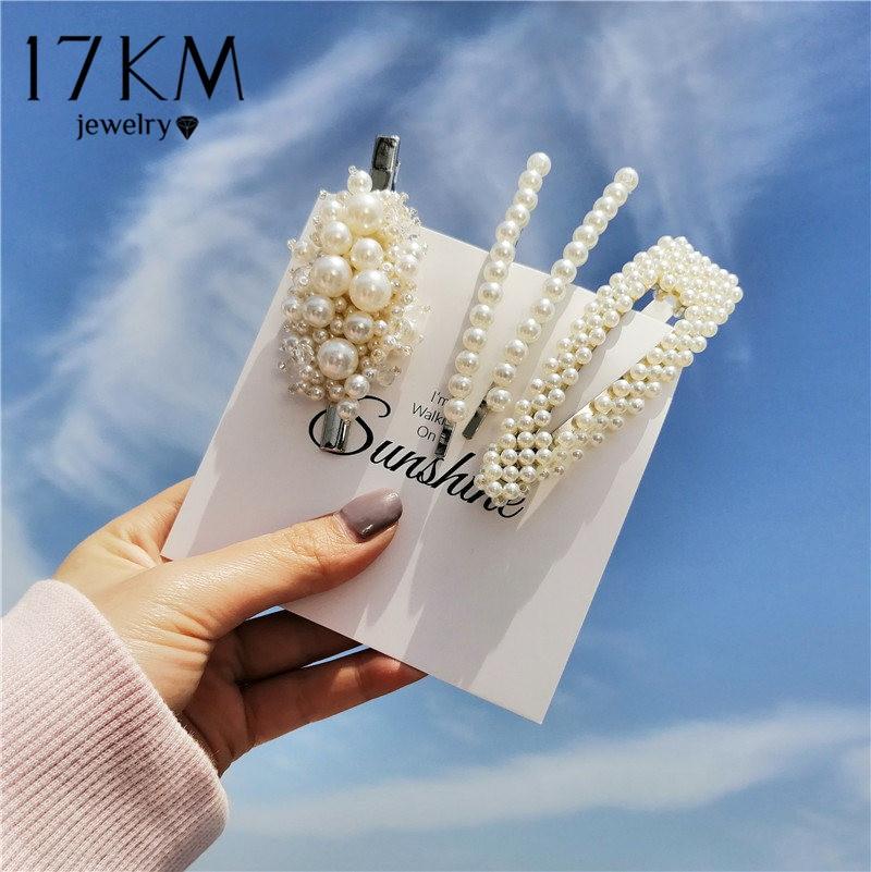 Fashion Metal Simulated-pearl Hair Clips & Pins For Women Girls Hair Clip Set 2020 Female Headwear Hair Accessories Wholesale
