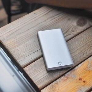 Image 3 - Xiaomi Youpin MIIIW – porte cartes, en acier inoxydable, argent, Aluminium, étui pour cartes de crédit, étui pour cartes didentité, porte monnaie de poche pour femmes et hommes