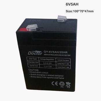 цена на 6V 5AH Storage Batteries 6V5AH 4AH Lead Acid Rechargeable batteries for Children Electric Car Electronic Said Emergency Lights