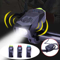 Bicycle Accessories Bike Light High with Horn Brightness USB Rechargeable Headlight 140dB Horn 3 Lighting Modes+4 Sound Modes