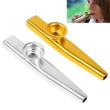 Instrument muzyczny Metal Kazoo z flet z membraną z 2 kolorami opcjonalnie