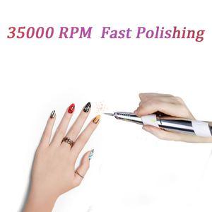 Image 4 - 3 Kleur Nail Boor Machine 35000Rpm Voor Elektrische Manicure Boor Machine & Accessoire Met Frees Elektrische Nagelvijl