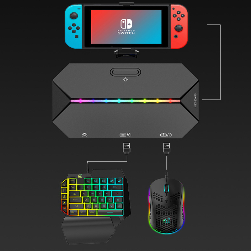 Switch Xbox PS4 Console Gamepad To Keyboard and Mouse Converter Gamepad for Nintendo Switch Console Keybord Mice Gaming Setup 1