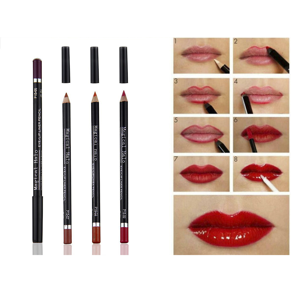 13 Colors Matte Lip Pencils Waterproof Lipliner Smooth Colorful Silk Nude Lipstick Pen Long Lasting Pigments Lip Makeup