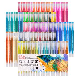 Image 1 - Markers Brush Pen Art Supplies for Fawing 48 60 72 100 Colors Sketch Watercolors Colored Markers Novel School Supplies Manga