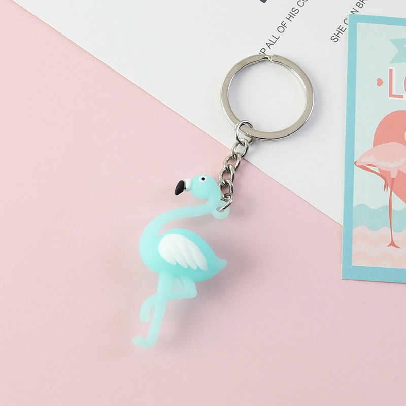 ใหม่ llaveros น่ารัก Chaveiro Flamingo พวงกุญแจรถน่ารักสัตว์ห่วงโซ่พวงกุญแจกระเป๋าจี้ผู้หญิงเครื่องประดับขายส่ง