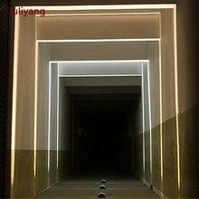 LED 8W impermeabile esterna luce della finestra quattro lati luminoso lampada da parete luce di contorno creativo telaio della porta del riparo della lampada AC85 265