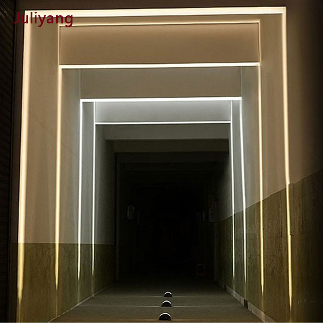 LED 8W outdoor waterproof window light four sided luminous wall lamp contour light creative door frame sconce lamp AC85 265