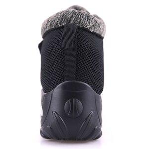Image 5 - Botas de invierno con piel para Mujer, botines cálidos de goma, informales, talla grande 42