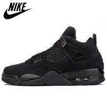Ar original jordan 4 retro sapatos de basquete preto paco metálico-pinho verde que os sapatos esportivos tamanho 40-47