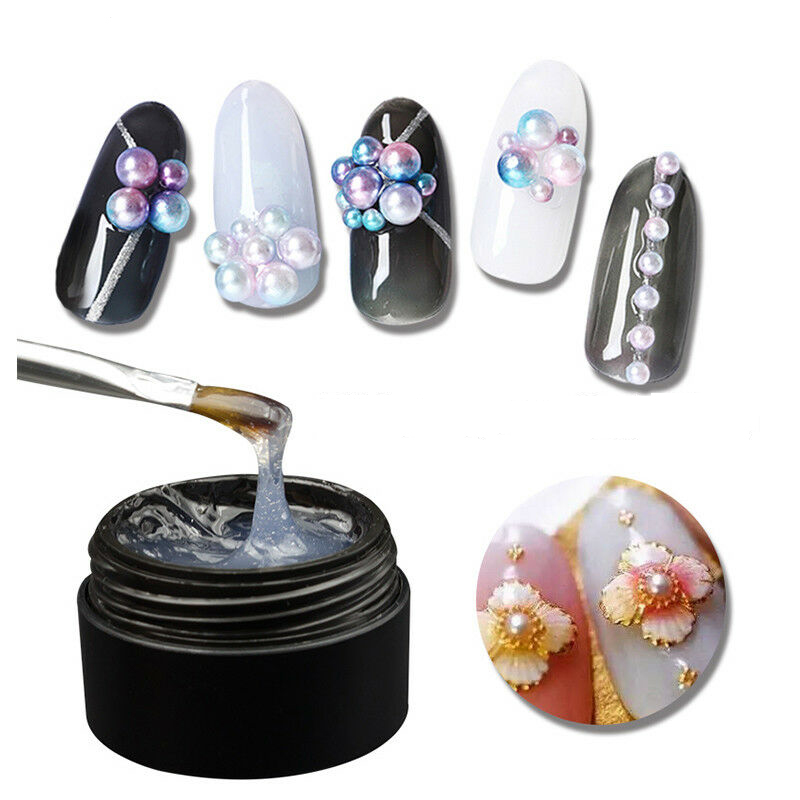 8ml UV Gel Nail Polish Glue Manicure Super Sticky Adhesive Glue For DIY Nail Art Rhinestone Crystal Gems Jewelry Decoration