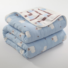 6 Layers 100% Muslin Cotton Baby Blankets for Newborn