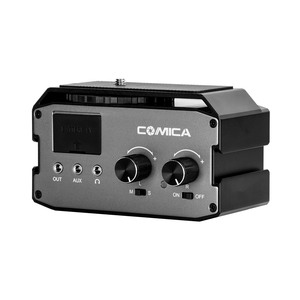 Image 4 - CoMica CVM AX3 XLR Audio Mixer Adapter Preamplifier Dual XLR/6.35mm/3.5mm Mics Audio Mixer for Canon Nikon Sony DSLR Camera