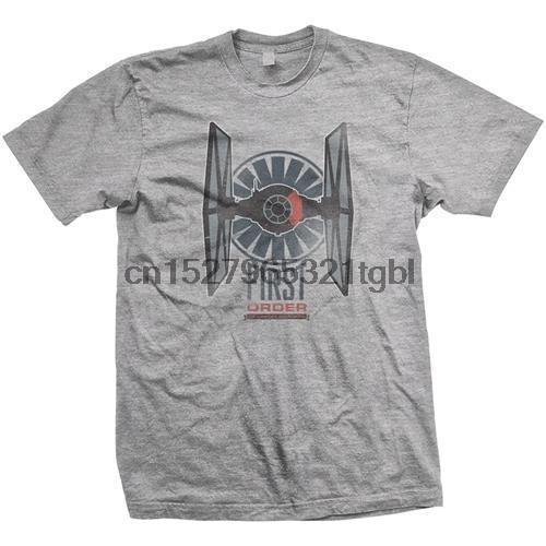 - Erste Order Tie Herren T-Shirt - Neu und Offiziell Lucasfilm New Metal Short Sleeve Casual Shirt
