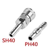 цена на 1PC Air Line Hose Fittings Compressor Set SH+PH 40 12mm Pneumatic Parts Hose Quick Coupler Plug Socket Connector Kit