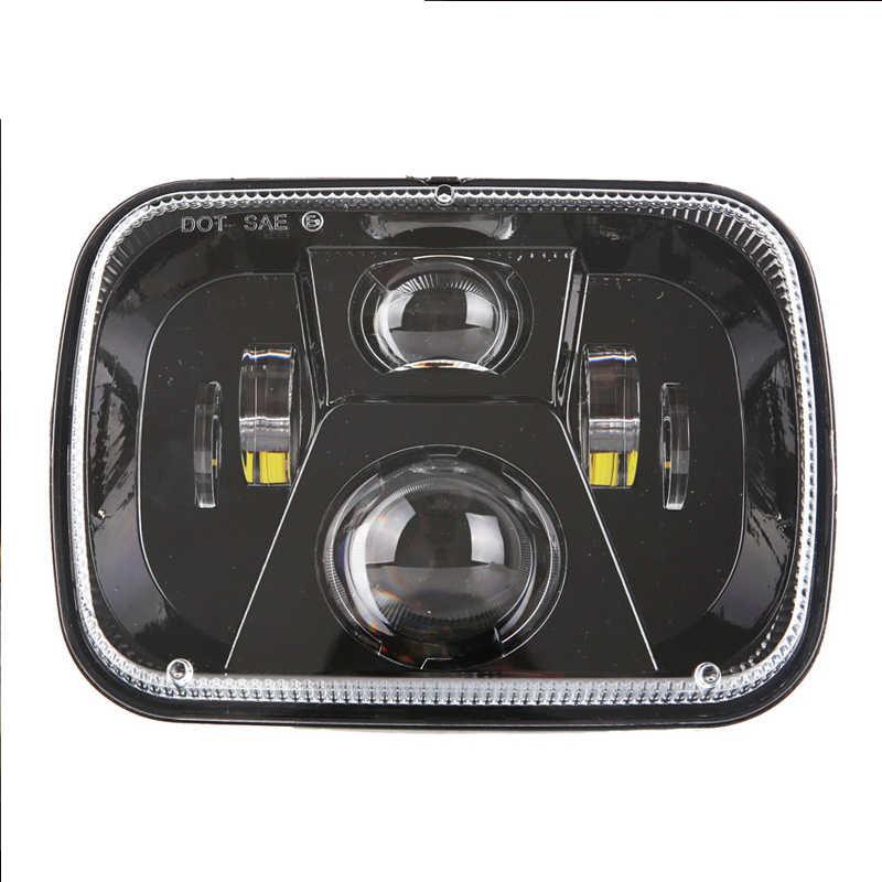 "2pcs 5x7"" Rectangular led headlight 6x7 square LED truck head lamp lighting headlamp for jeep Cherokee XJ  MJ Comanche"