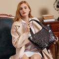 4000861199773 - Bolso de mujer a la moda de piel con letras, piel auténtica, capa superior 100, lykj-yx