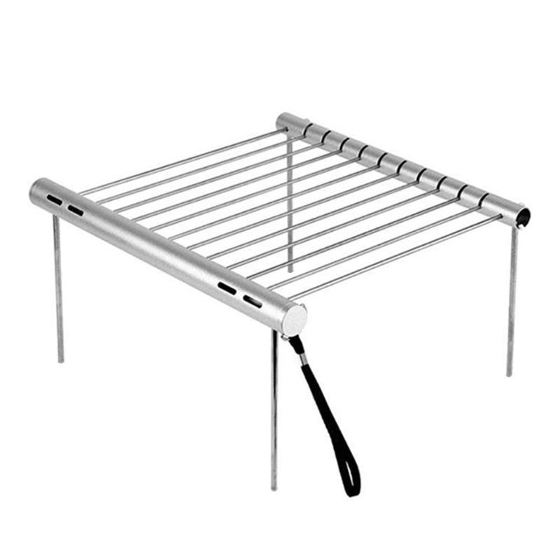 Portable Stainless Steel Barbecue Grill Foldable Outdoor Picnic BBQ Tool