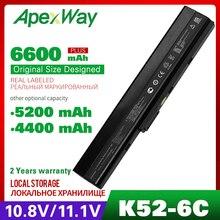 Batterie dordinateur portable pour ASUS A32 K52 K42DE K42DQ A42 K52 K42J K42JA K42JB K42JC K42JE K42JK K42JP K42JR K42 K42D K42DR K42F