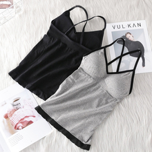 New Seamless Vest For Women Band lingerie Pad Tube Top Summer Tank Cross Straps One-piece Underwear Camisoles #F