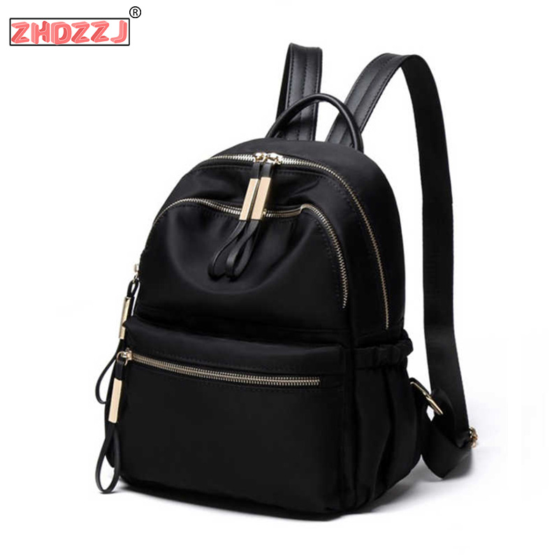 2020 New Oxford Women Backpack Bag Black Solid Small Back Pack Woman Leisure Daily Student Bagpack Ladies College Hot Sale