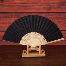 Éventail chinois Vintage en dentelle et soie, pliable, tenu à la main, couleur unie, pour fête de mariage, cadeaux