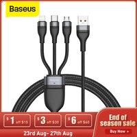 Baseus 3 in 1 USB di Tipo C Cavo per il iPhone 11 Pro Caricatore Del Telefono 5A Veloce di Ricarica Cavo Dati per xiaomi Samsung Micro USB C Cavo