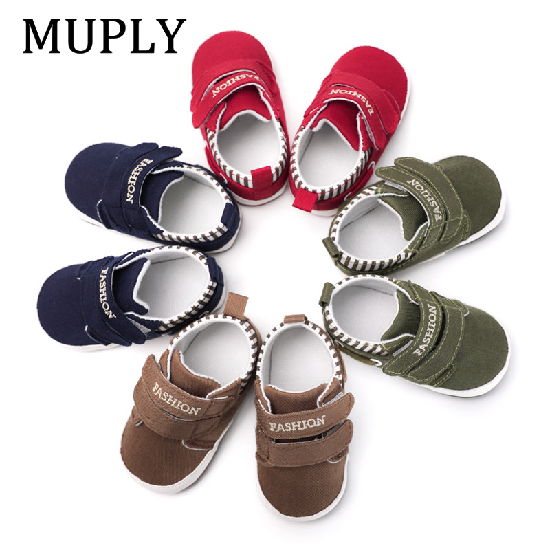Infant Babies Boy Girl Shoes Sole Soft Canvas Solid Footwear For Newborns Toddler Crib Moccasins 4 Colors Available | Happy Baby Mama