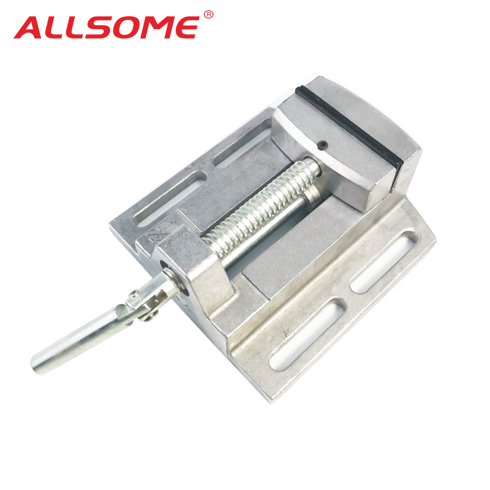 ALLSOME BG-6258 Aluminum Drill Press Vise Flat Pliers Mini Drill Chuck Multi Tool Manual Clamp HT2836