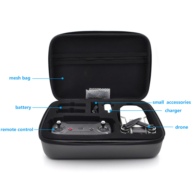 Portable Case for Mavic Mini Waterproof Carrying Case Protective Storage Bag Shockproof Travel Case for DJI Mavic Mini Drone 2