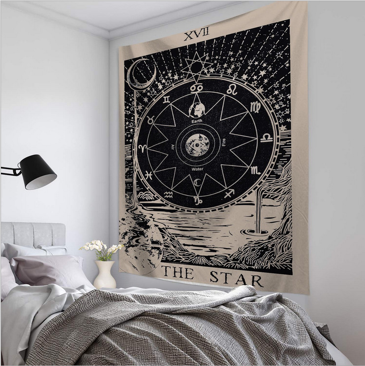 Polyester 95x73cm Tapestry Wall Hanging Carpet Throw Yoga Mat For Home Bedroom Decoration Decorative Carpet Yoga Mats