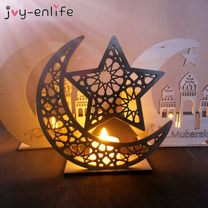 Image 3 - Ramadan Eid Mubarak Decorations For Home Moon Wooden Plaque Hanging Ornaments Islam Muslim Festival Event Party Supplies