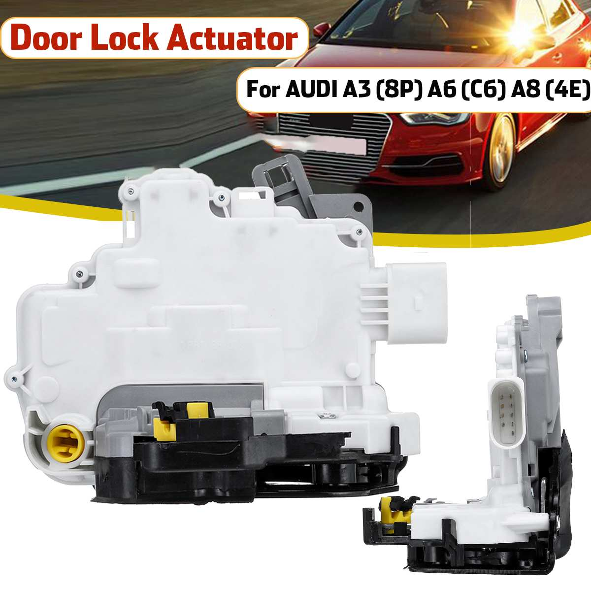 8P C6 Justech Door Lock Mechanism Front Right Driver Side Door Lock Actuator for A3 8E2837016AA A8 A6 4E