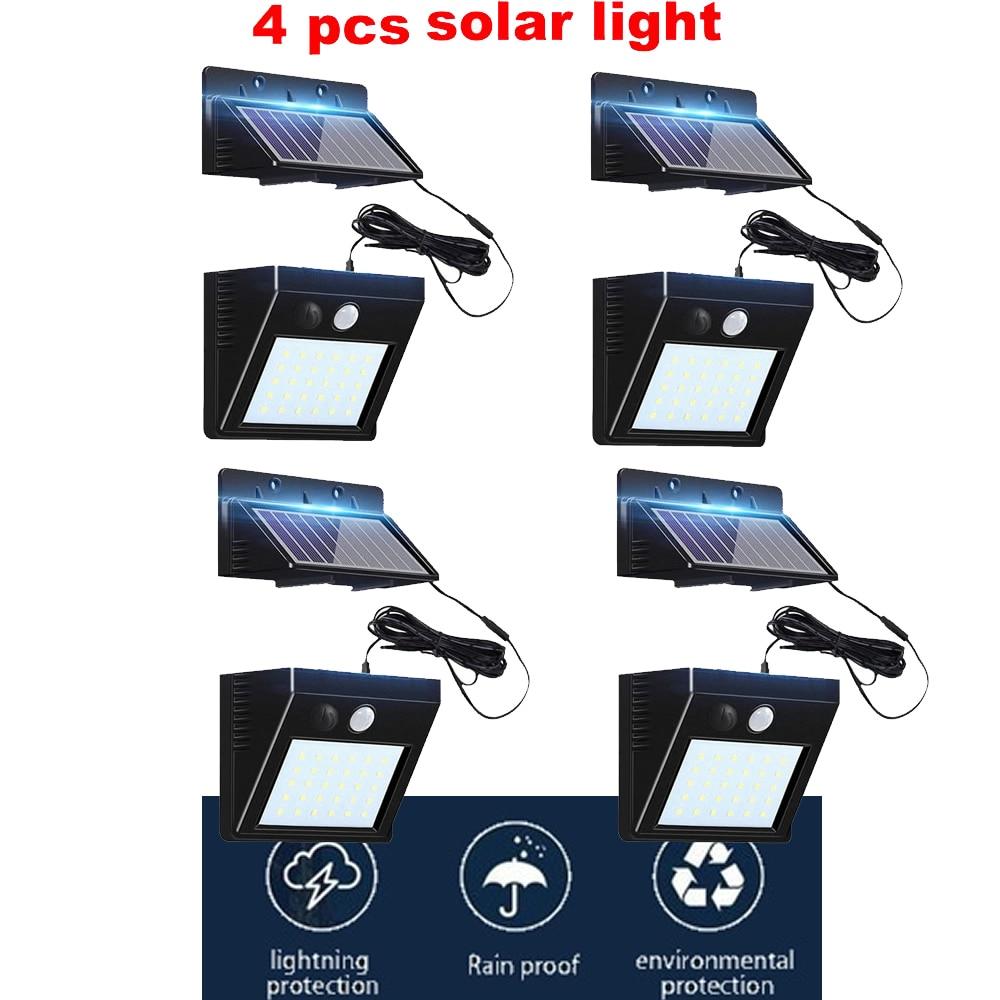 2/4pcs 100/56/30 Led Solar Power Human Body Motion Sensor Garden Light Control Security Lamp Outdoor LED Solar Light Waterproof