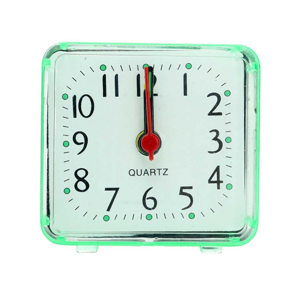 1PC Quadrado Pequeno despertador bonito estudante de moda criativa relógios quarto cabeceira escritório relógio eletrônico mini despertadores