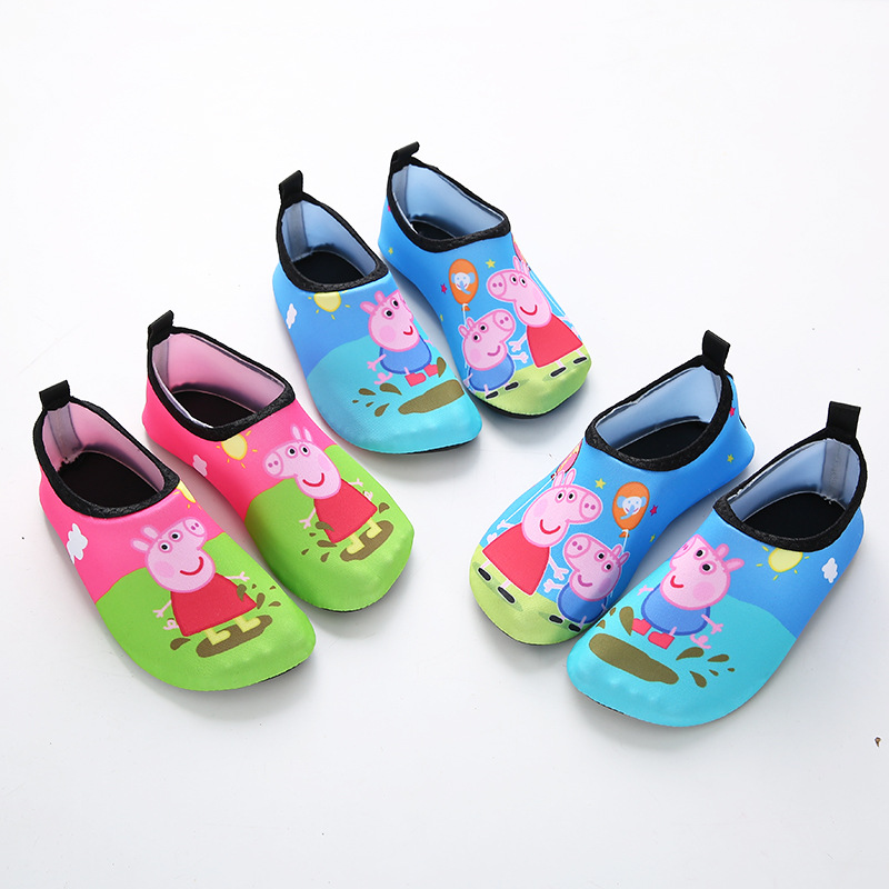 Peppa Pig Kids Children Beach Shoes Water Socks Boys And Girls Home Shoes Outdoor Swimming Shoes Cute Cartoon Kids Slippers 2020