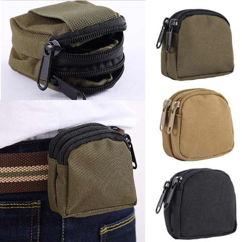 MOLLE Tactical EDC Pouch Portable Key Wallet Holder Multifunctional Waist Belt Bag Coin Purse Pouch Outdoor Sports Accessory Bag