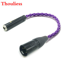 Thouliess HIFI 4 Pin XLR Male Balanced to 6.35mm 1/4 Female Single Crystal Coppe Silver Plated Audio Adapter Cable 6.35mm to XLR