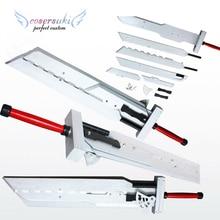 Final Fantasy VII FF7 Cloud Strife Detachable Prop Weapon Wooden 110CM Cosplay Prop Sword