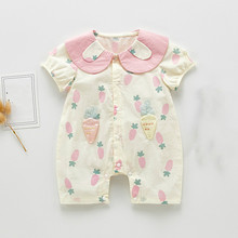 New Brand Toddler Kids Baby Girl Infant Clothes Romper Carrot Print Summer Newborn Baby Cute Rompers Jumpsuit Playsuit Costumes ruffled flower baby rompers summer newborn baby costumes kids jumpsuit toddler baby girl romper ropa bebe clothes polo outfits