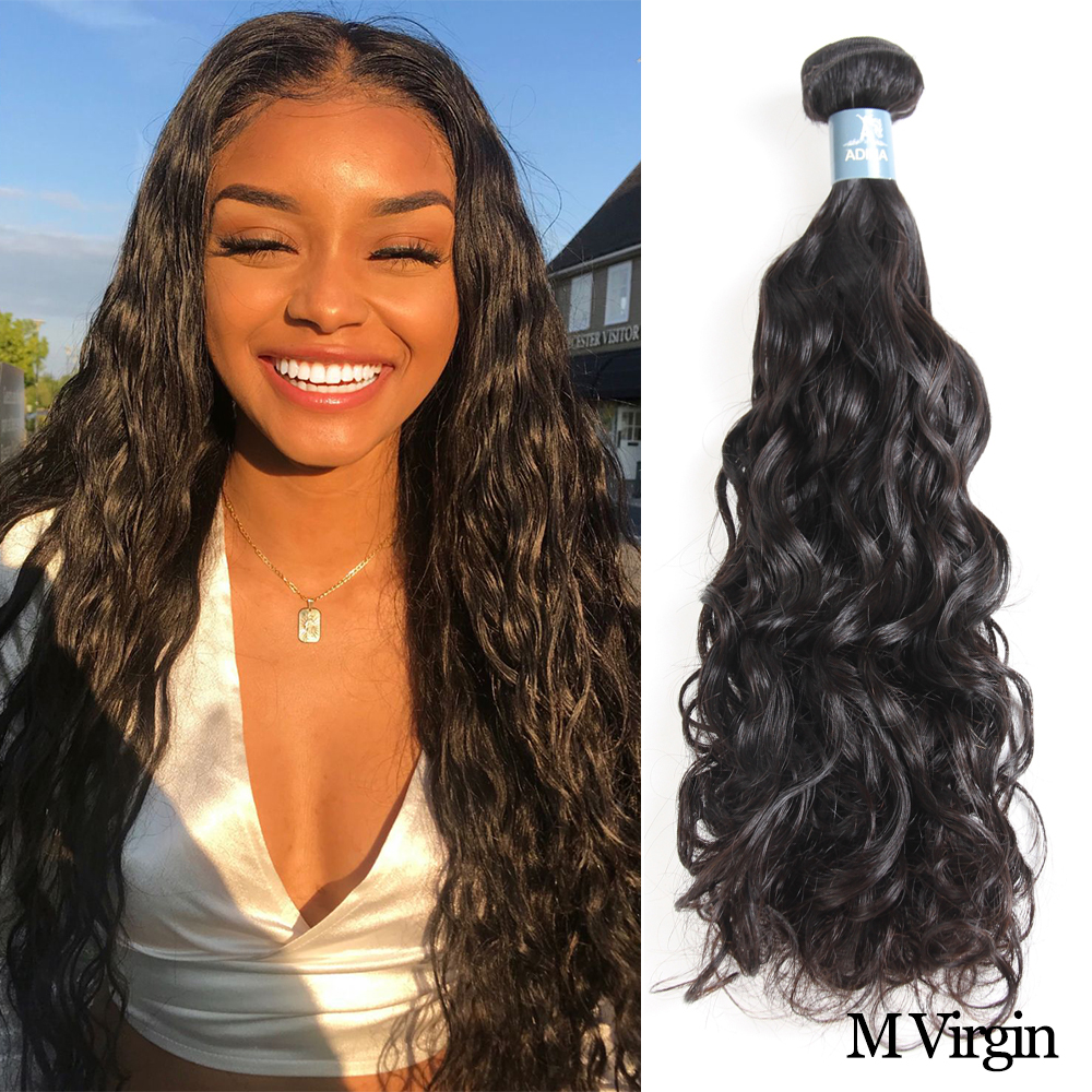 Brazilian Water Wave Bundles Curly Weave Human Hair Unprocessed Virgin Hair Extensions Natural Color For Salon